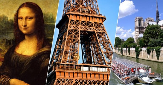 1 day : Eiffel Tower, Louvre, Notre Dame and Cruise - all guided